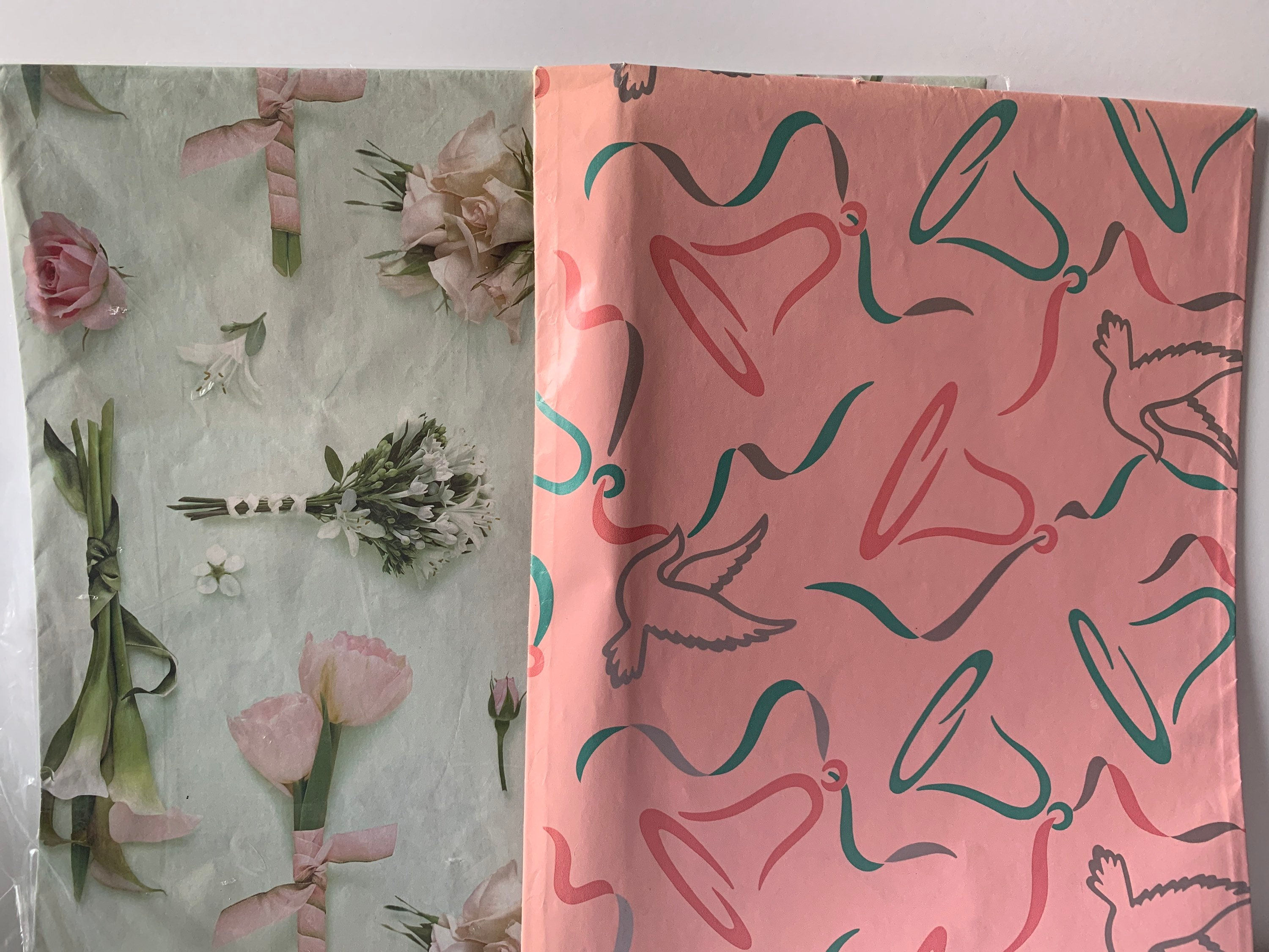 vintage gift wrap wedding bridal shower wrapping paper  etsy
