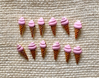 ICE CREAM CORNET Sew Fun Collection Sewing Novelty Dress It Up Craft Buttons