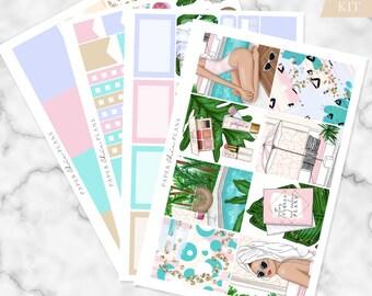 MINI KIT - 'Poolside' // Erin Condren Planner Sticker Kit - MATTE