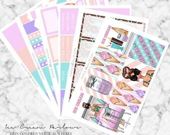 Ice Cream Parlour // Erin Condren Vertical Weekly Planner Kit - MATTE