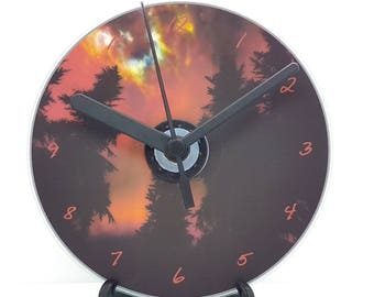 Skyrim Night Forest Printed CD Clock Video Game Collectable Gift Idea