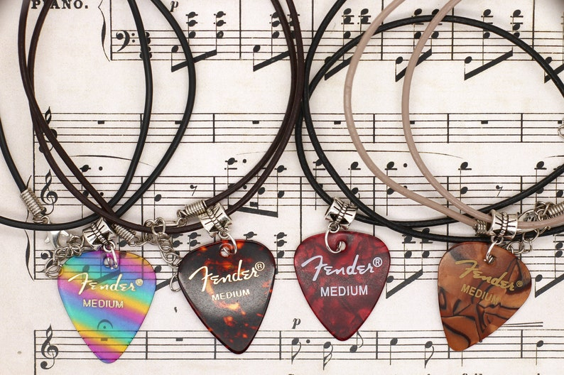 Customizable Genuine Fender Pick Necklace