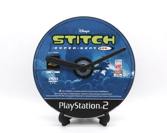 The Stitch Experiement PlayStation 2 PS2 Upcycled CD Clock Video Game Gift Idea