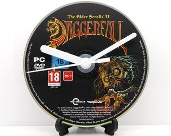 Daggerfall The Elder Scrolls II PC Upcycled CD Clock Video Game Gift Idea