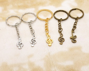 Treble Clef Keyring Choice of Colours