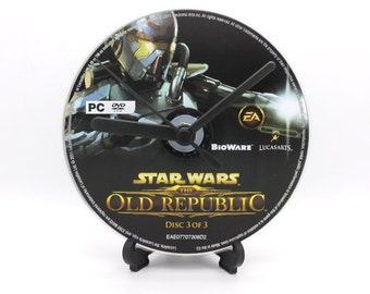 Star Wars The Old Republic PC Upcycled CD Clock Video Game Collectable Gift Idea