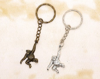 Swinging Monkey / Ape Keyring Gift Idea Choice of Colours