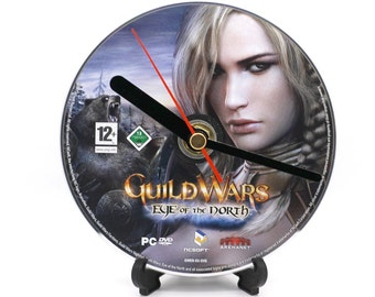 Guild Wars Eye Of The North PC Upcycled CD Clock Video Game Collectable Gift Idea