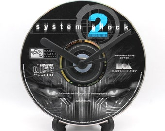 System Shock 2 PC Upcycled CD Clock Retro Video Game Collectable Gift Idea