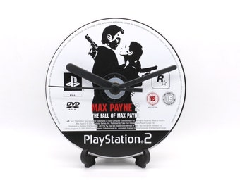 Max Payne 2 PlayStation 2 PS2 Upcycled CD Clock Video Game Collectable Gift Idea