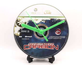 Need For Speed Carbon Xbox 360 Upcycled CD Clock Video Game Gift Idea