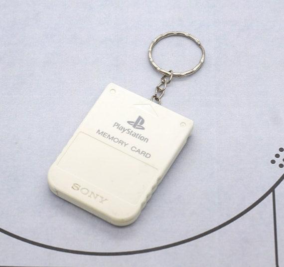 Officiel blanc PlayStation PS1 mémoire carte porte clés recyclé