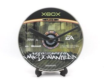 Need For Speed Most Wanted Xbox Upcycled CD Clock Video Game Gift Idea