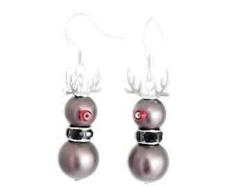 Valentine/'s Day gift Santa Claus/'s deer Swedish Design Christmas gift Silver Rudolf Gift for Her Silver Rudolf Pendant