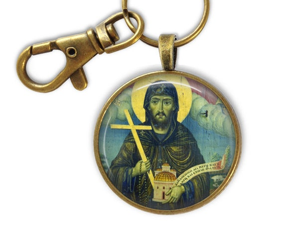 Saint Peter Damian Keychain - Religious gift- with GIFT BOX
