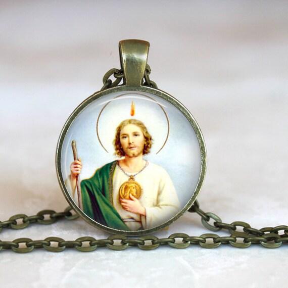 Saint Jude Pendant - Patron Saint of Desparate Causes - Catholic necklace