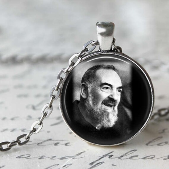 Saint Padre Pio Pendant - with an 18 or 24 inch chain - Catholic Pendant - Saint Pio