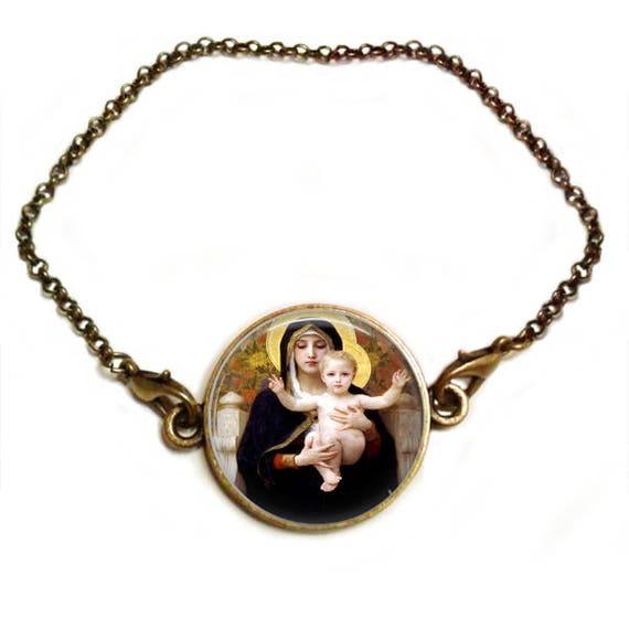 Catholic Bracelet  - Christian Inspirational Bracelet  Faith  Christian Bracelet  Christian Mom Daughter Sister Gift