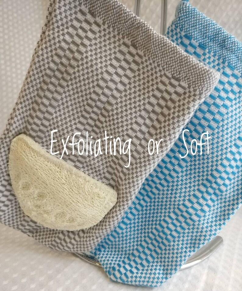 cd7de7a5d28b2 Face Towels Luffa Mitt Handwoven Shower Mitt Reusable   Etsy