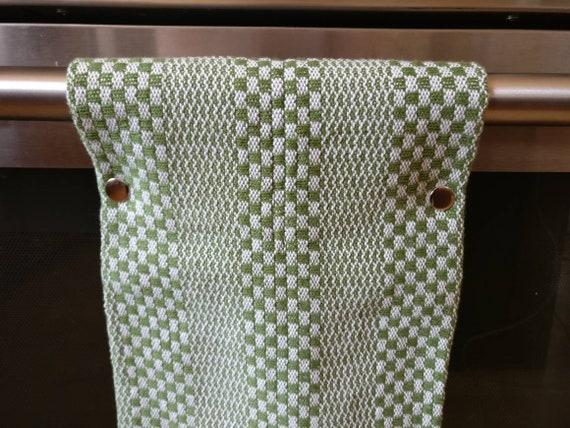 Hanging Kitchen Towel Handwoven Towels Red Kitchen Towels Modern Kitchen Towels With Snaps
