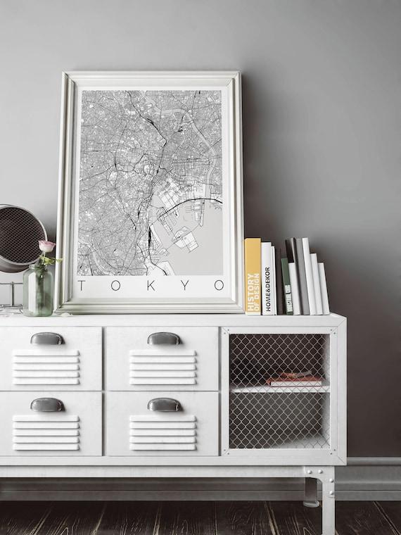 Mapa de Tokio Japón ajustes IKEA marco Home Decor arte