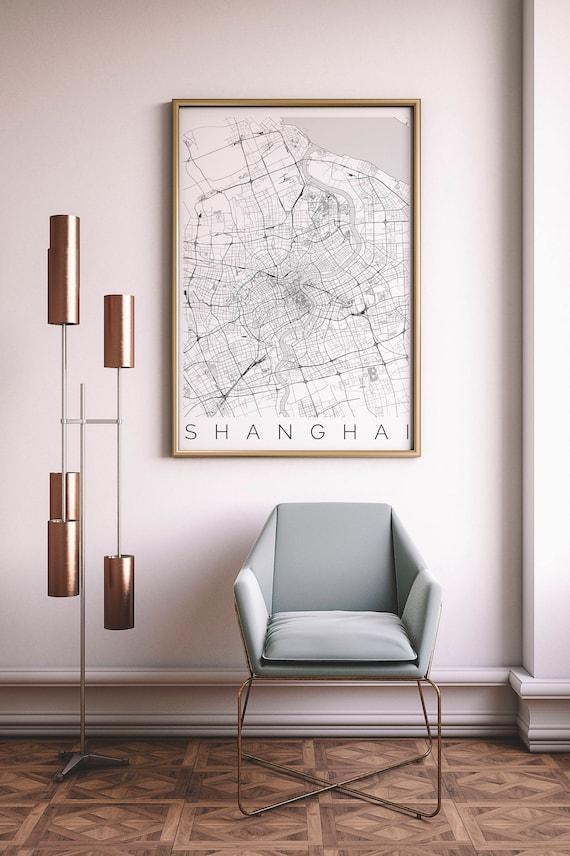 Karte von Shanghai passt IKEA Rahmen Home Decor Wall Art | Etsy