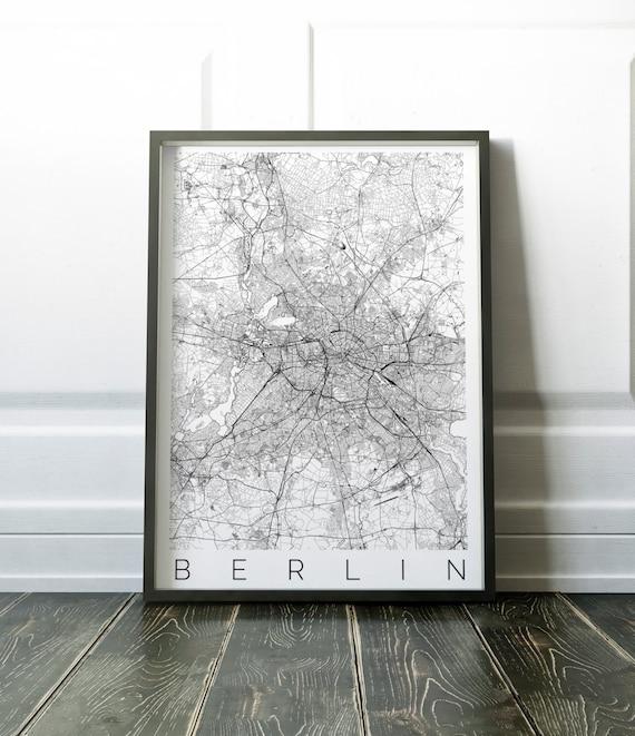 Mapa de Berlín ajustes IKEA marco Home Decor arte de la   Etsy