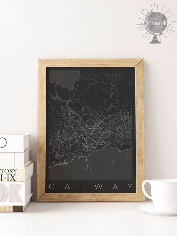 Mapa Galway Pasuje Do Ramy Ikea Galway Decor Mapa Sztuki Plakaty Z Irlandii Ikea Size Print Wanderlust Sztuka Skandynawska Galway Dziewczyna