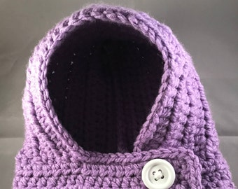 Hooded Cowl in Purple