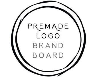 Add-on 'Brand Board' to any premade logo purchase - Alternate and Submark Logos included