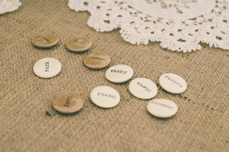 Wedding Favour  Wedding Favor  Wedding Badges  Boho Wedding  Wedding Gifts  Name Settings