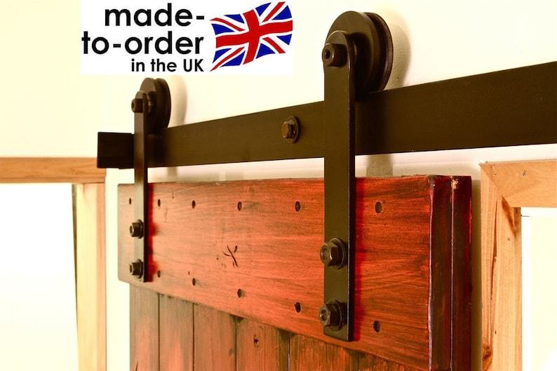 RUSTIC Sliding Barn Door Hardware For Wood Door DIY Kit