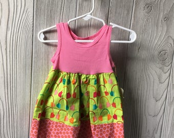 12-18 MO- pink headphone tank dress