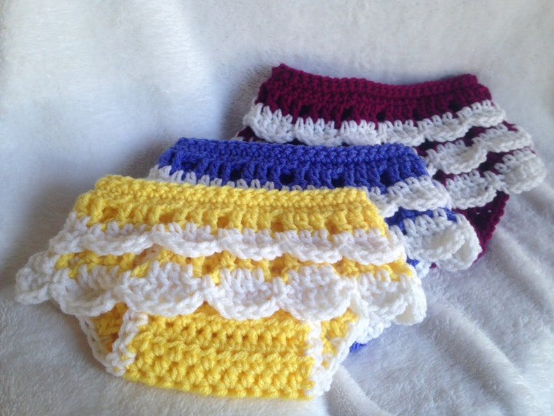 Crochet Baby Diaper Cover Crochet Baby Skirt Ruffly Baby Etsy