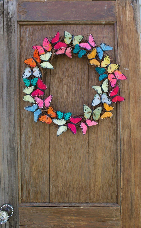 Spring Welcome Wreath, Front Door Wreath, Easter Wreath ...