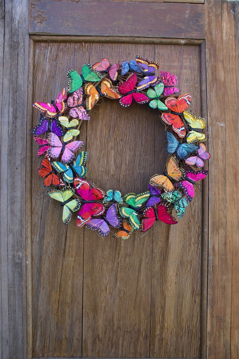 Spring Wreath Butterfly Wreath Butterfly Summer Wreath image 0