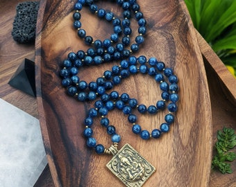 Black Onyx Mala Beads for Her Mindfulness Gift SALE Abundance Mala Beads Volcanic Lava Mala Necklace Yoga Necklace Meditation Gift Pyrite