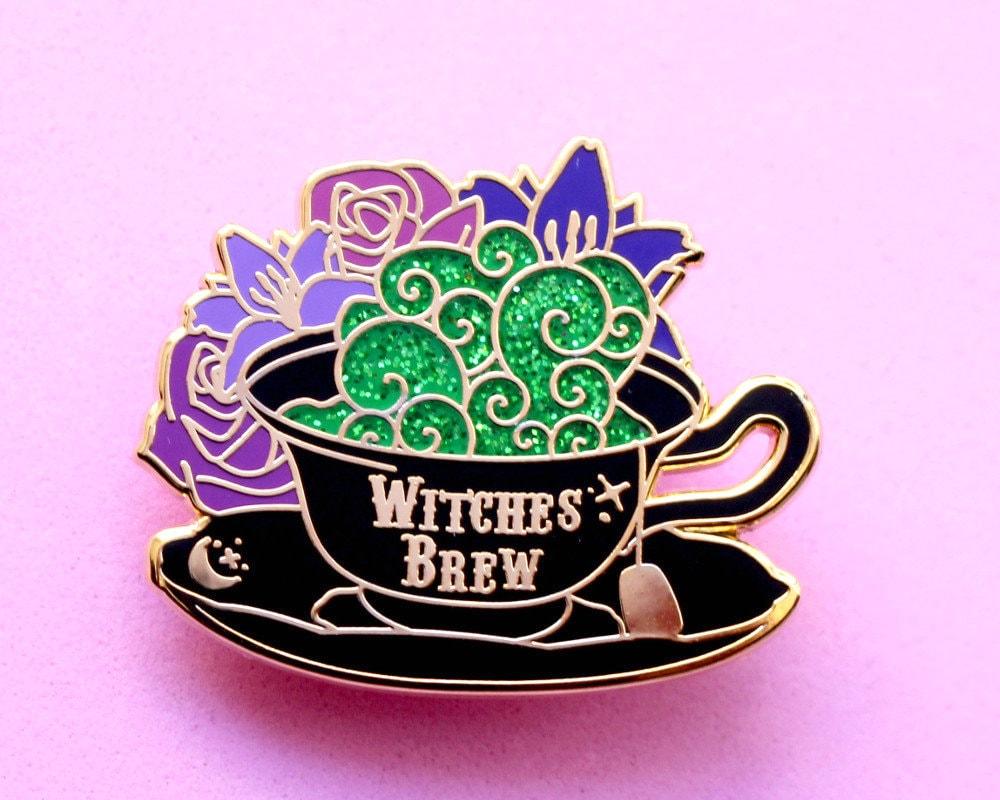 Witches brew enamel pin Potion enamel pin Witch enamel pin | Etsy