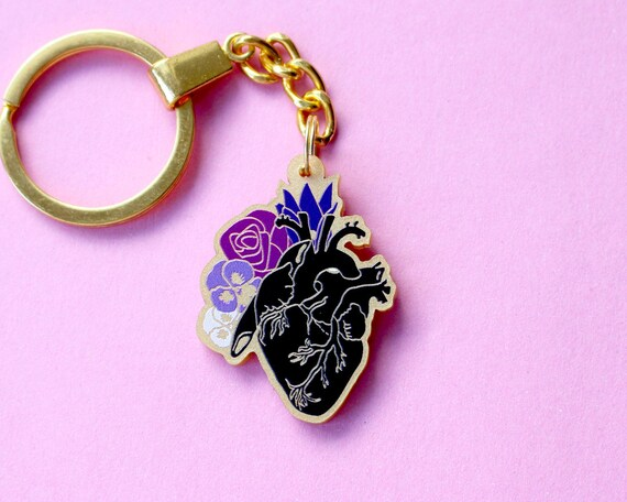 French Bulldog Dog Breed Heart Love Metal Keychain Key Chain Ring