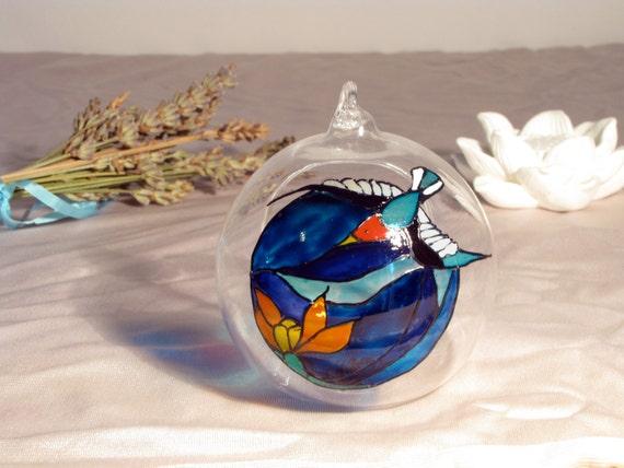 ooak mini terrarium glas kugel schwalbe bringt tillandsien etsy. Black Bedroom Furniture Sets. Home Design Ideas