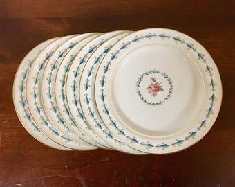 Hall China Mount Vernon Bread Plates - Set of 7 / Harmony House Dessert Plates & Harmony house china | Etsy