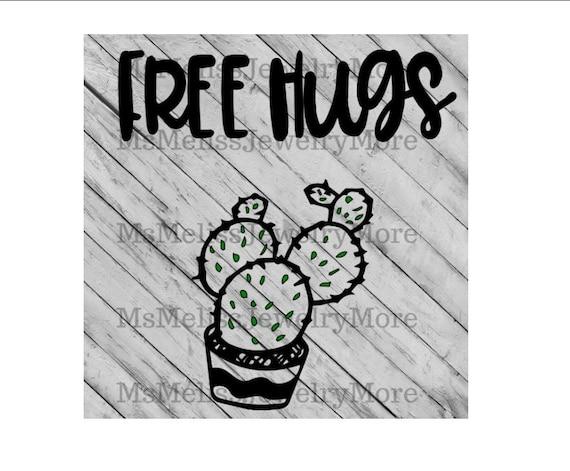Free Hugs Svg File Svg Silhouette Cut File Cricut Print T Etsy