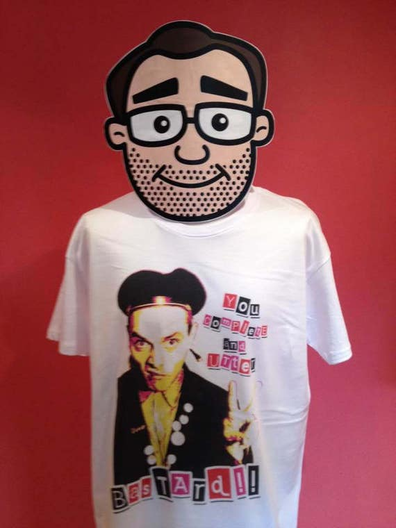Young Ones Vyvyan T-Shirt White Shirt Ade Edmondson // Punk