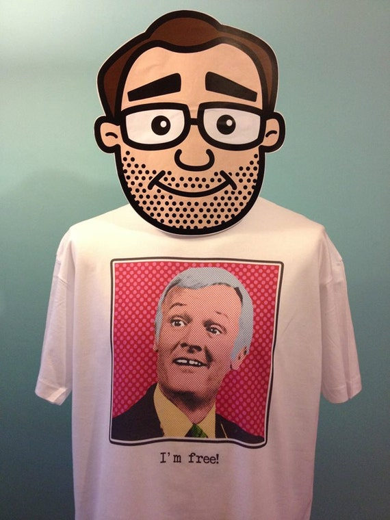 White T-Shirt Are You Being Served? Pop Art Mr Humphries John Inman Menswear