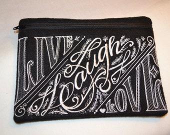 Live Laugh Love Zipper Bag
