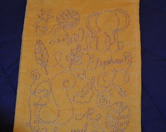 Drawstring Elephant/Squirrel bag