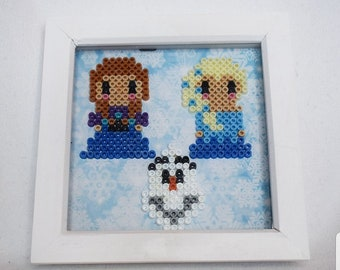 Disney Frozen Inspired Decorative Frame - Anna, Elsa and Olaf