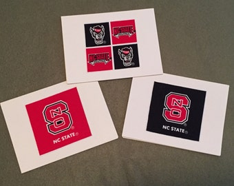 NC State Wolfpack - set of 8 notecards blank inside