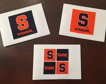 Syracuse University - set of 8 notecards blank inside