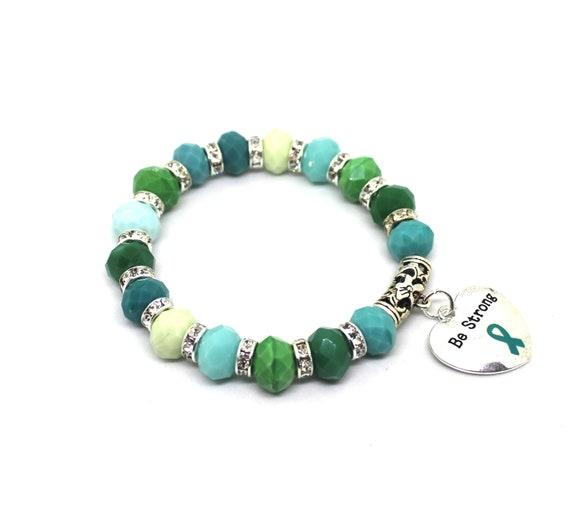 Ptsd Gifts Ovarian Cancer Bracelet Ovarian Cancer Jewelry Etsy